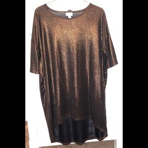 Lularoe Gold shimmery top size small